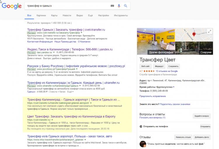 SEO в Google