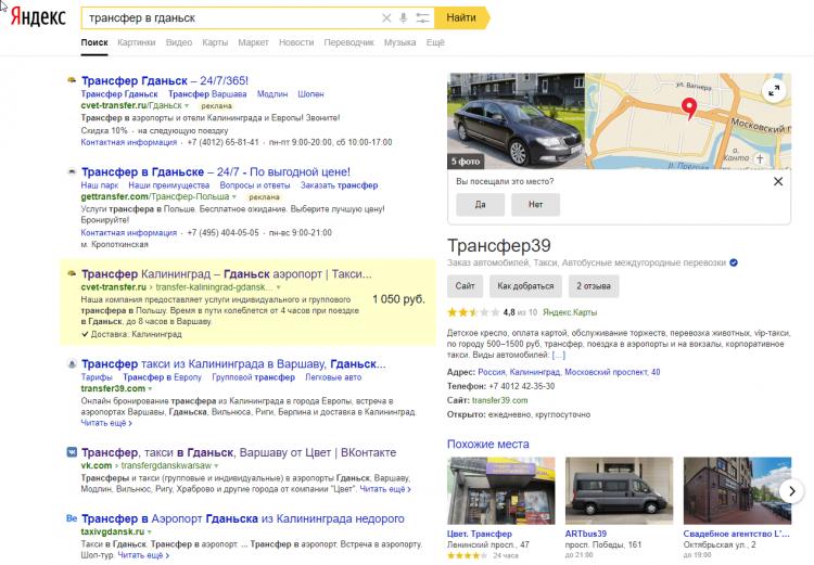 SEO в Яндекс