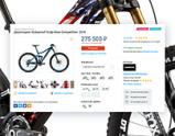 Дизайн главной страницы велосипедного интернет-магазина